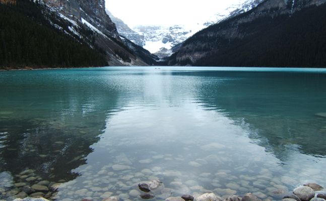 Lake Louise with emerald water