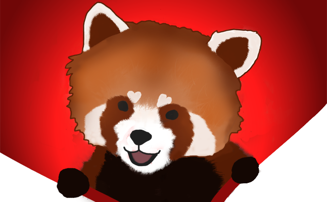 Red Panda artwork by Angela Boyko